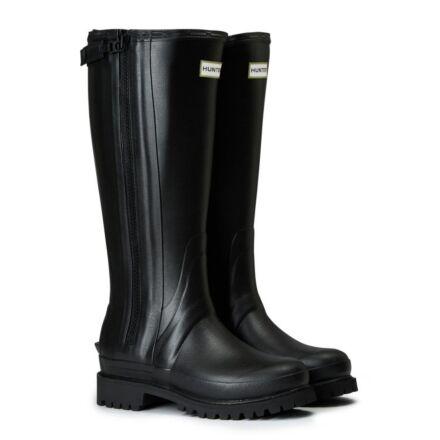 Hunter Women's Balmoral Full Zip Commando Sole Boot Black