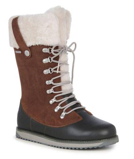 Emu Orica Leather/Suede & Sheepskin High Boot Oak