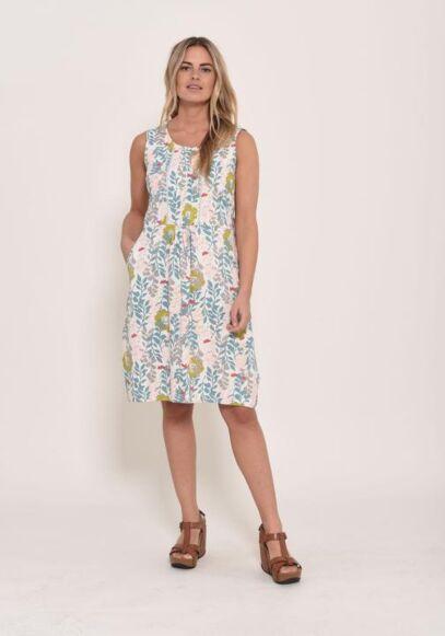 Brakeburn Ava Pleat Dress Ecru