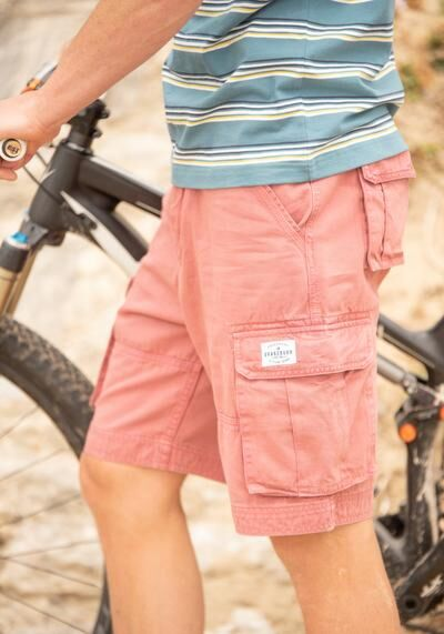Brakeburn Washed Cargo Shorts Pink