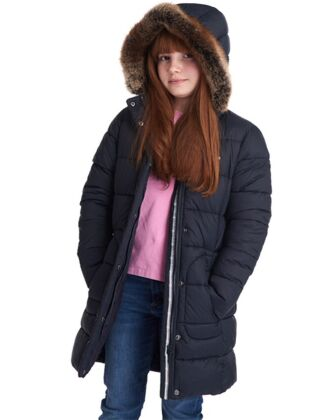 Barbour Girls Bridled Quilted Jacket Navy