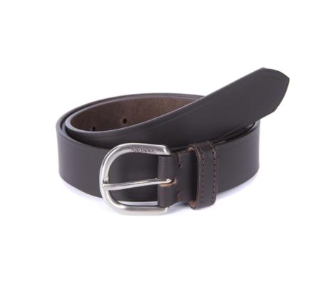 Barbour Women's Leather Belt Dark Brown