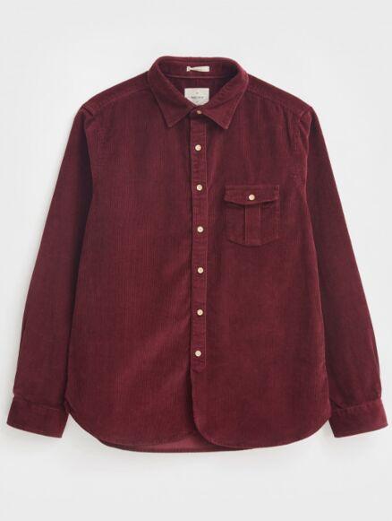 White Stuff Bradmore Cord Pocket Shirt Dark Claret