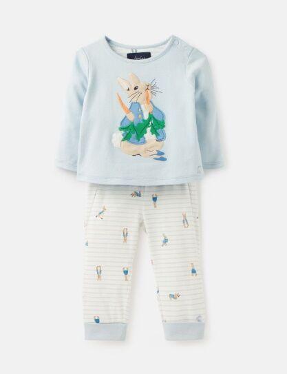 Joules Byron Peter Rabbit Applique Top & Trouser Set