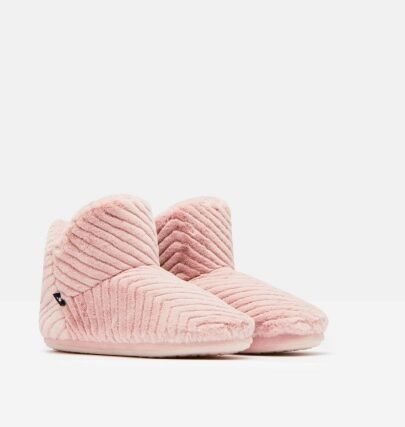 Joules Cabin Luxe Faux Fur Lined Slippersocks Soft Pink