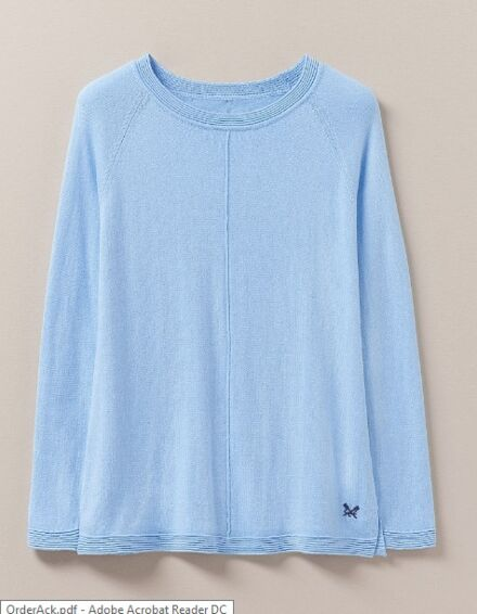 Crew Clothing Cambourne Crew Neck Jumper Blue