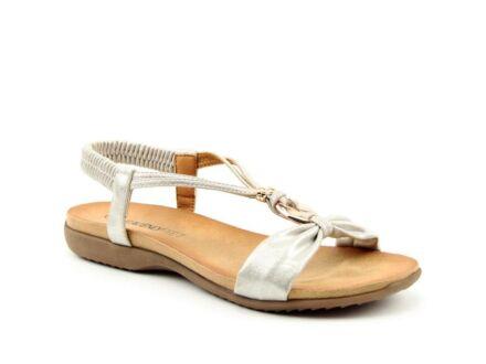 Heavenly Feet Campari Sandals White/Silver