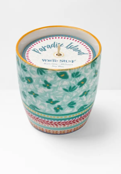 White Stuff Mint Leaf Candle