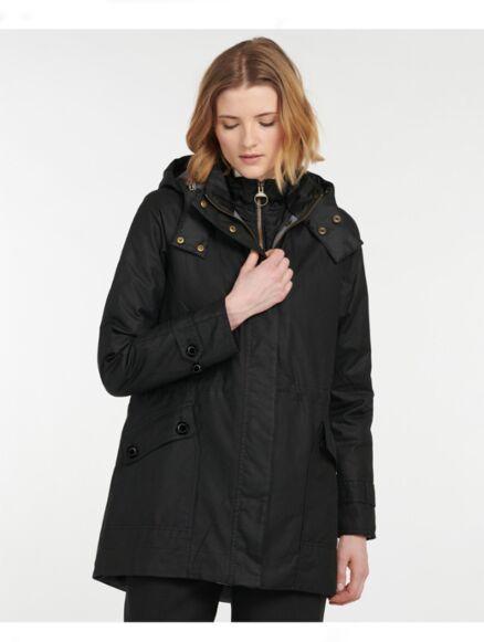 Barbour Cannich Waxed Jacket Black/Modern Tartan
