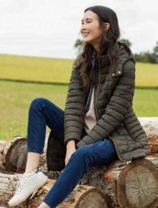 Joules Canterbury Long Padded Jacket Heritage Green