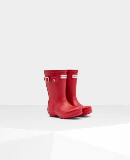 Hunter Little Kids Wellies Military Red