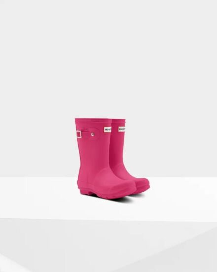 Hunter Little Kids Wellies Bright Pink