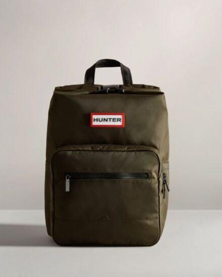Hunter Nylon Pioneer Topclip Backpack Dark Olive