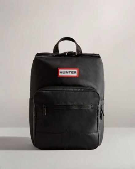 Hunter Nylon Pioneer Topclip Backpack Black