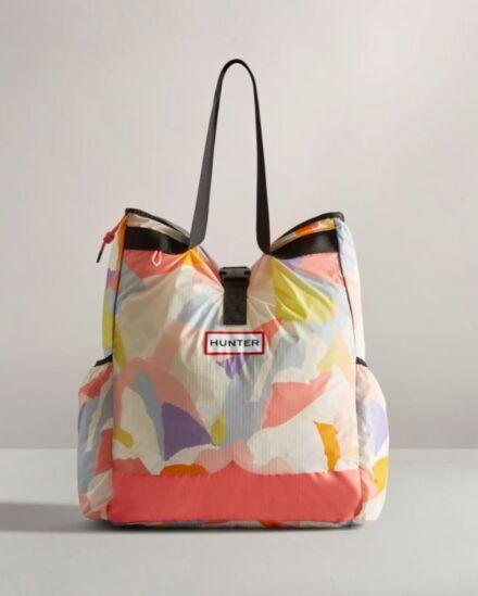 Hunter Original Ripstop Packable Tote Bag Glacial Camo Pink Salt
