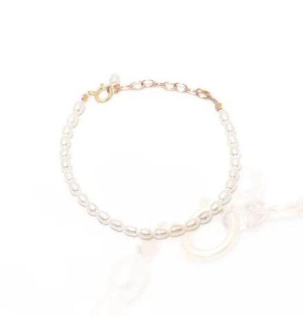 Ella Palm Lei 14k Gold Rice Pearl Bracelet