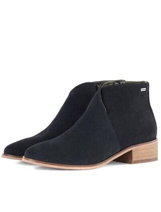 Barbour Caryn Boots Black Suede