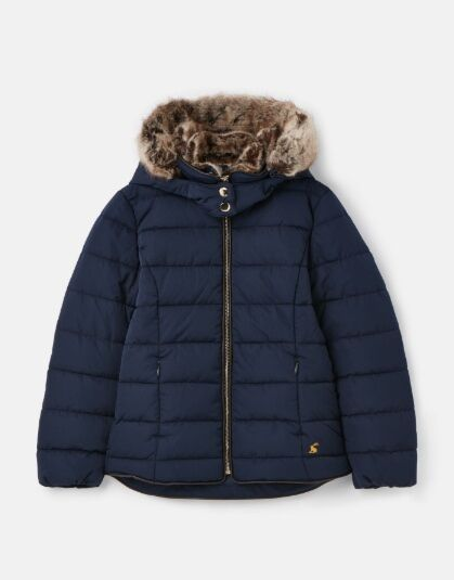 Joules Girls Cassington Padded Coat French Navy