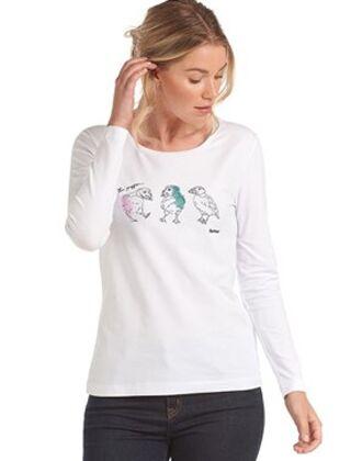 Barbour Cassins Long Sleeved T-Shirt White