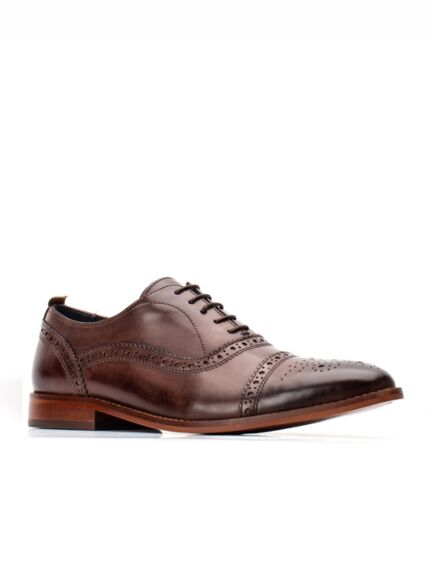 Base London Cast Washed Oxford Shoe Brown