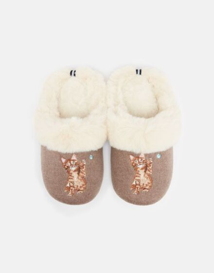 Joules Slippet Luxe Slippers Cat
