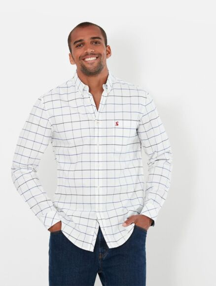 Joules Welford Classic Fit Shirt White Check