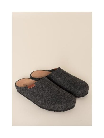 Brakeburn Felt Slippers Charcoal Grey