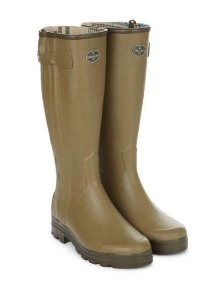 Le Chameau Chasseur Jersey Wellington Boots Vert