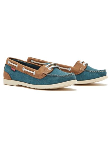 Chatham Women's Durdle Boat Shoe Blue/Tan