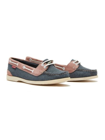 Chatham Women's Durdle Boat Shoe Navy/Pink