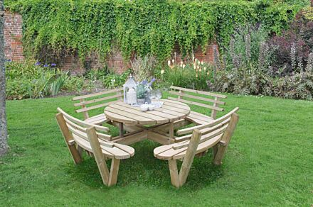 Forest Gardens Circular Picnic Table With Seat Backs