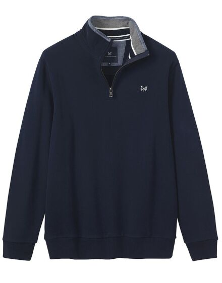 Crew Clothing Men's Classic 1/2 Zip Sweatshirt Navy