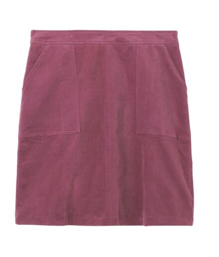 White Stuff Clocktower Cord Skirt Berry Purple