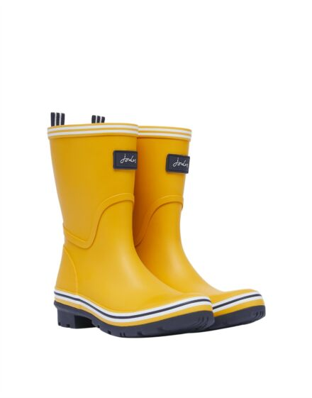 Joules Coastal Packable Mid Height Wellies Antique Gold