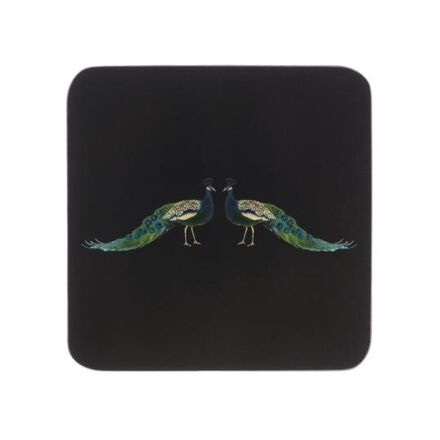 Sophie Allport Set of 4 Coasters Peacock