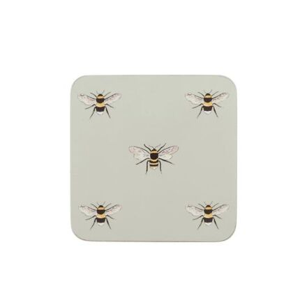 Sophie Allport Set of 4 Coasters Bees