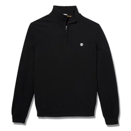 Timberland Cohas Brook Merino 1/4 Zip Sweater Black