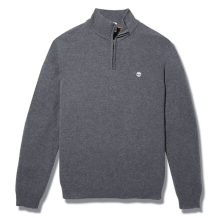Timberland Cohas Brook Merino 1/4 Zip Sweater Dark Grey Heather