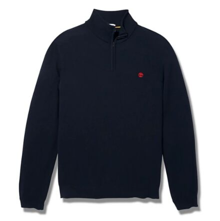 Timberland Cohas Brook Merino 1/4 Zip Sweater Dark Sapphire