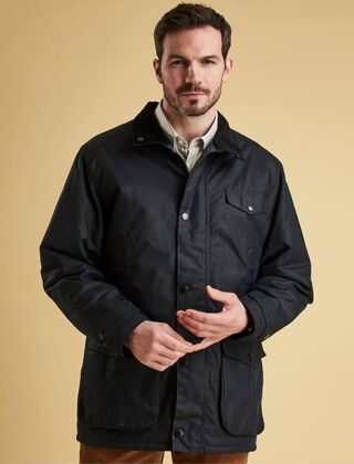 Barbour Cole Waxed Jacket Navy