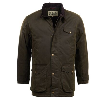 Barbour Cole Waxed Jacket Olive