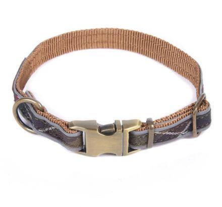 Barbour Reflective Tartan Dog Collar Classic Tartan