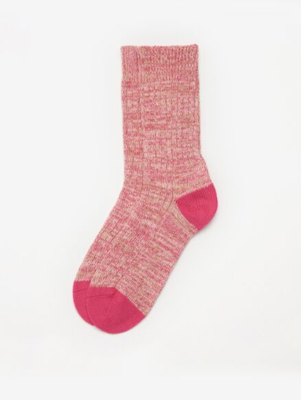 Barbour Colour Twist Sock Pink/Taupe