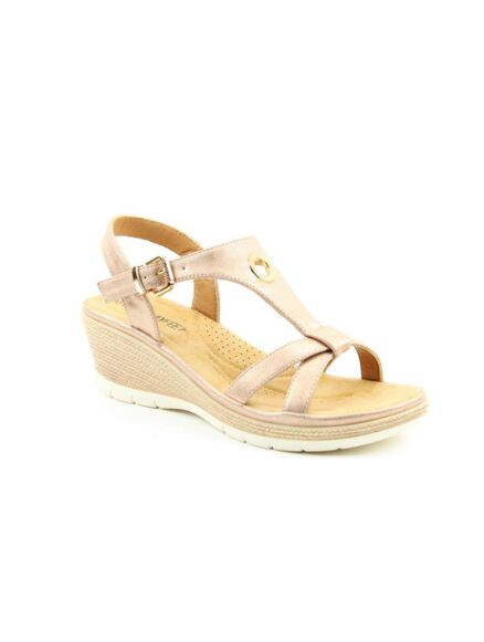 Heavenly Feet Coral Sandals Rose Gold