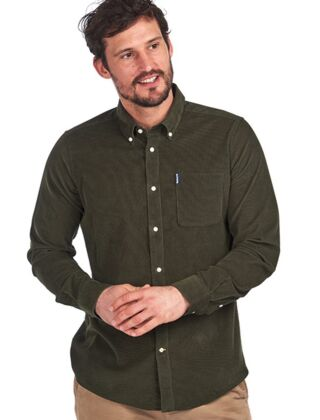 Barbour Cord 2 Tailored Shirt Forest