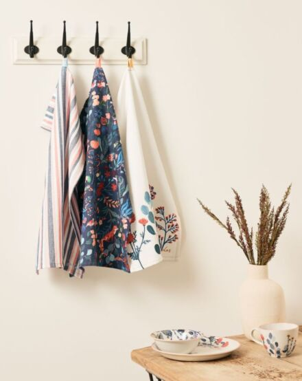 Joules Country Cottage Tea Towels Pack Of 3