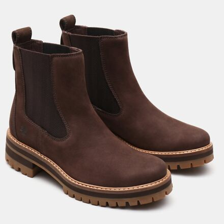 Timberland Women's Courmayeur Valley Chelsea Boot Dark Brown
