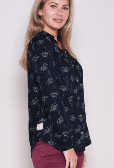 Brakeburn Cow Parsley Blouse Navy