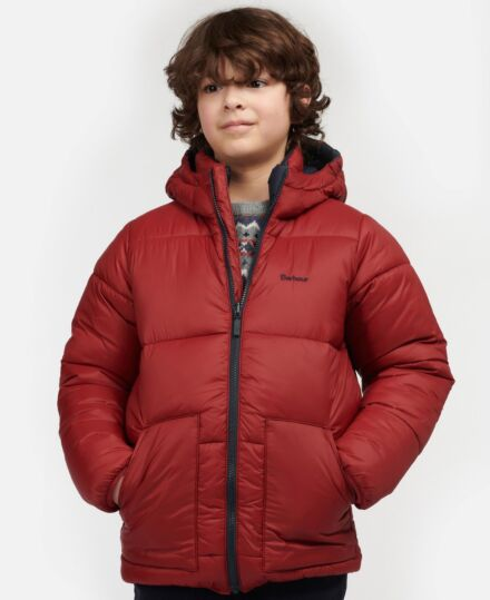 Barbour Boys Hike Quilt Biking Red