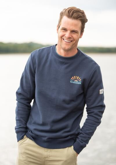 Brakeburn Crew Neck Sweater Blue